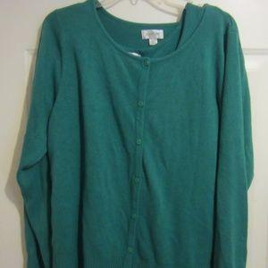 Avenue, Green sweater twinset, 18/20